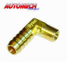 Sytec Quality Brass 90D Fuel Pump Union, 1/8 NPTF to 8mm Push On (FPA9011)