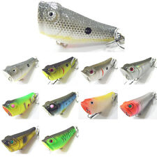 10X Floating Fishing Popper Lure Lures artificial bait Crankbaits hook 5cm/7.8g