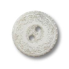 5 nostalgische weiße Zweiloch Perlmutt Knöpfe von der Burgosschnecke