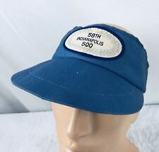 Vtg 1974 58th Indianapolis 500 Speedway Indy Visor Hat Cap Blue Patch