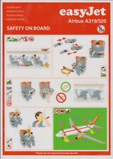 EASYJET (UK) - AIRBUS A319/320 - 06/2009 - SAFETY CARD - CONSIGNES DE SECURITE