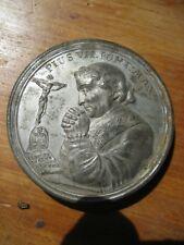Zinn Steck Medaille 1800 museal Papst Pius VII Maria  ANSCHAUEN !!! Schraubtaler