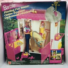 Barbie Feeding Fun Stable Vintage Boxed Includes Lots of Accessories