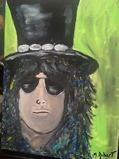 ONE OF A KIND ICONIC SLASH GUNS AND ROSES 12X16 ACRYLIC. PERFECT 4 MAN CAVE