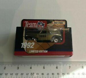 1992 New Orleans Saints NFL Diecast Matchbox Car Classic Sedan