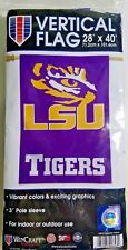 "LSU Tigers Official NCAA 28""x40"" Veritcal Banner Flag by Wincraft New"