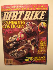 January 1993 DIRT BIKE Magazine motocross moto x racer action mx