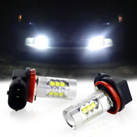 HID Bright H11 H8 White-Blue LED Replacement Bulbs Fits Fog Lights Driving DRL