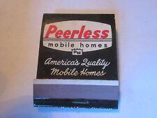 vintage Peerless Mobile Homes Fort Wayne, IN Quality Homes 1950's era matchbook