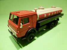 MADE IN USSR KAMAZ 53212 TRUCK + FUELTANKER - RED 1:43 - EXCELLENT CONDITION