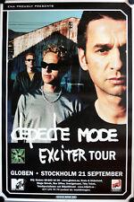 Depeche Mode Exciter Tour Poster Stockholm 2001 GEROLLT Schweden Globe Gahan