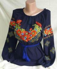 Ukrainian Embroidered Blouse for women. Chiffon. Tradition shirt Size S-XXL