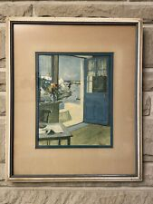 Raymond Wintz Vintage Framed Art� The Blue Door�
