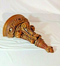 Beautiful Faux Carved Wood Grain Resin Corbel Wall Sconce Shelf