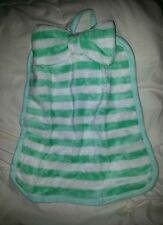 Towel Plush Fabric Green Striped  Hanging Kids bathroom hand toy soft blankie
