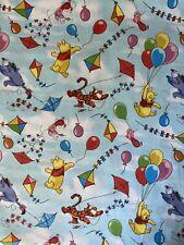 "100% Cotton Fabric Fat Quarter Disney Winnie The Pooh 18"" x 21"" Bright 1/4 Yard"
