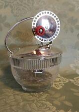 ANDROCK 'Bowl Beater' Glass & Metal Egg ~ Mayonnaise MIXER Red Wood Handle U.S