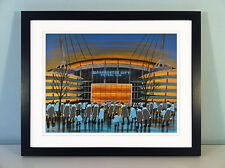 "JACK KAVANAGH ""CITY OF MANCHESTER STADIUM"" MAN CITY FRAMED PRINT"