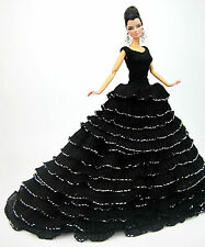 Basic Evening Black Dress Outfit Gown Silkstone Barbie Fashion Royalty Designer