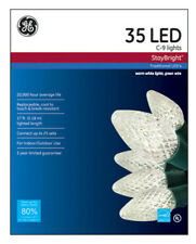 Ge Ge90936 StayBright Christmas C9 Led 35-Light Set w/Green Wire, Warm White