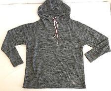 Lukka Women's Pull-Over Hoodie Grey Heather Sweat Shirt Dye Tunic Top NEW Size L