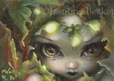 Leaflight Mini ACEO Jasmine Becket-Griffith big eyes art fairy Strangeling ATC