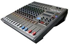 DJ PA 8 / 9 Channel Powered Mixer MP3 USB Player Phantom,GAIN,AUX,EFF,PAN MGP9