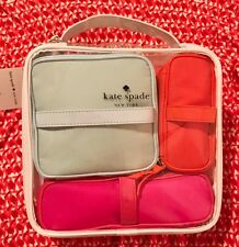 """NWT Kate Spade New York 9""""x11"""" set of 4 travel and/or cosmetic zipper cases/bags"""