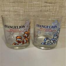 Sanrio Hello Kitty Evangelion Collaboration Rei Asuka Glass 2 Set Anime Manga