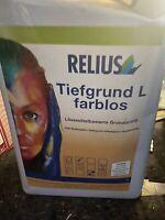 10 Liter Relius Tiefgrund L Farblos  Restposten (2)