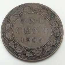 1905 Canada One 1 Cents Large Penny Circulated Canadian Coin D511