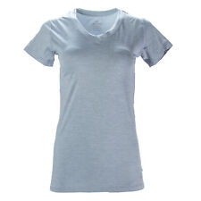 TOMMIE COPPER Women's Silver Heather Vitality V-Neck Shirt Sz L $49.50 NEW