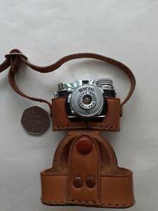 Vintage Minature, Mycro Spy Camera, & Original Leather Case