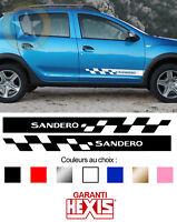 2 X BANDES PORTES POUR DACIA SANDERO STEPWAY SPORT AUTOCOLLANT STICKER BD515-21