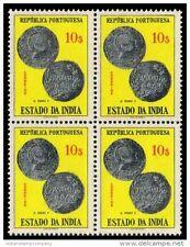 PORTUGUESE INDIA 1959, GOA-Coin of Ruler Pedro V-Block of 4-MNH-S.G. 704