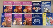 Lot Everyday Mathematics (Grade 4) Student Teacher Math Resource Textbook Set