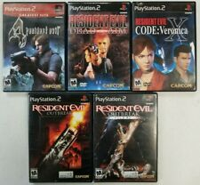 Resident Evil games (Playstation 2) PS2 Tested