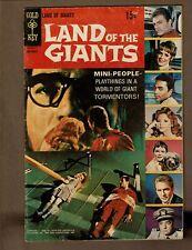 GOLD KEY COMICS LAND OF THE GIANTS 1 VG+ 4.5 1960'S TV SHOW MINI PEOPLE GALINO