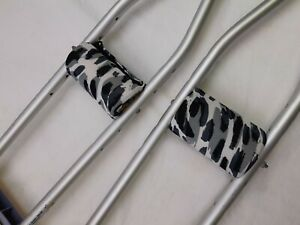 Crutch Grips Padded Multi-color Black White Gray