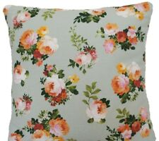 """Green Cushion Cover Bouquets Cath Yellow Roses Printed Cotton Fabric Square 16"""""""