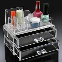 6 Designs Clear Acrylic Cosmetic Organizer Makeup Jewellery Nail Varnish Rack