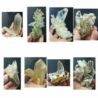 Beautiful lot of Quartz Crystals & Clusters with Mica/Chlorite 8pcs 1.9kg