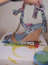 BNWT Desigual Irene Wedges/Sandals UK7 EU41