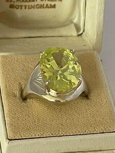 Blaine Lemon Quartz Ring; Engagement Ring; Argentium\u00ae Sterling Silver FREE SHIP US
