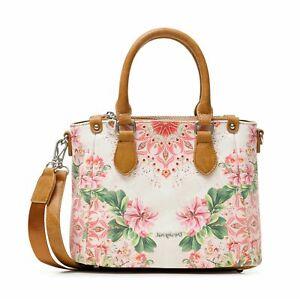 Desigual Bols Flower Valkyria Safi Hand Bag Handtasche Tasche Pink Rosa Schwarz