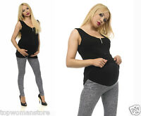 Original Maternity Cotton Grey Leggings Over Bump Pregnancy Clothes All Size