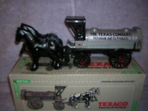 1991 Texaco Gas Station Diecast Bank. Horse and Tanker Item number 9390VP