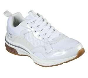 NEU SKECHERS Damen Sneakers Turnschuhe Freizeitschuhe BOBS PULSE AIR Weiß