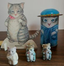 Lot 5 Kitty Cucumber Thimble Groom Tuxedo ~ Pencil Toppers ~ Paper Doll Shackman