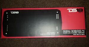 DS18 GEN-X1600.4 1600 Watts 4/3/2 Channel Class A/B Car Amp Amplifier